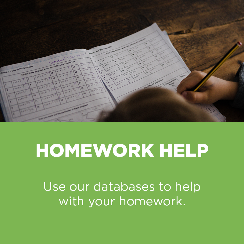 Use our databases to help with your homework